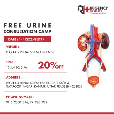 Free urine consultation camp at Regency Kanpur