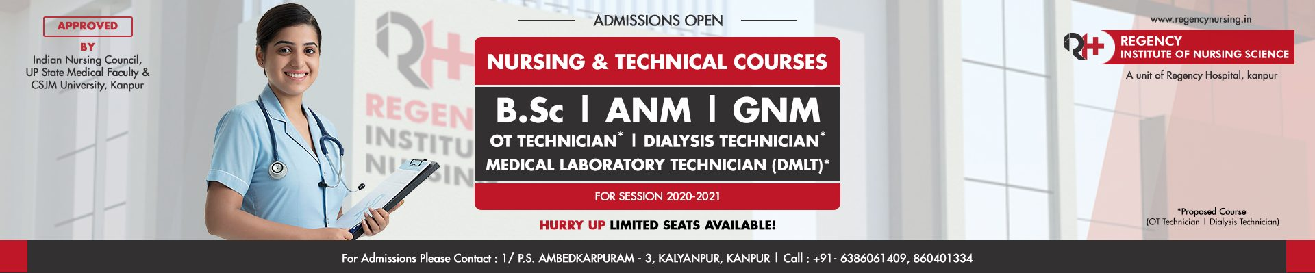 Nursing and Technical Courses admissions opne
